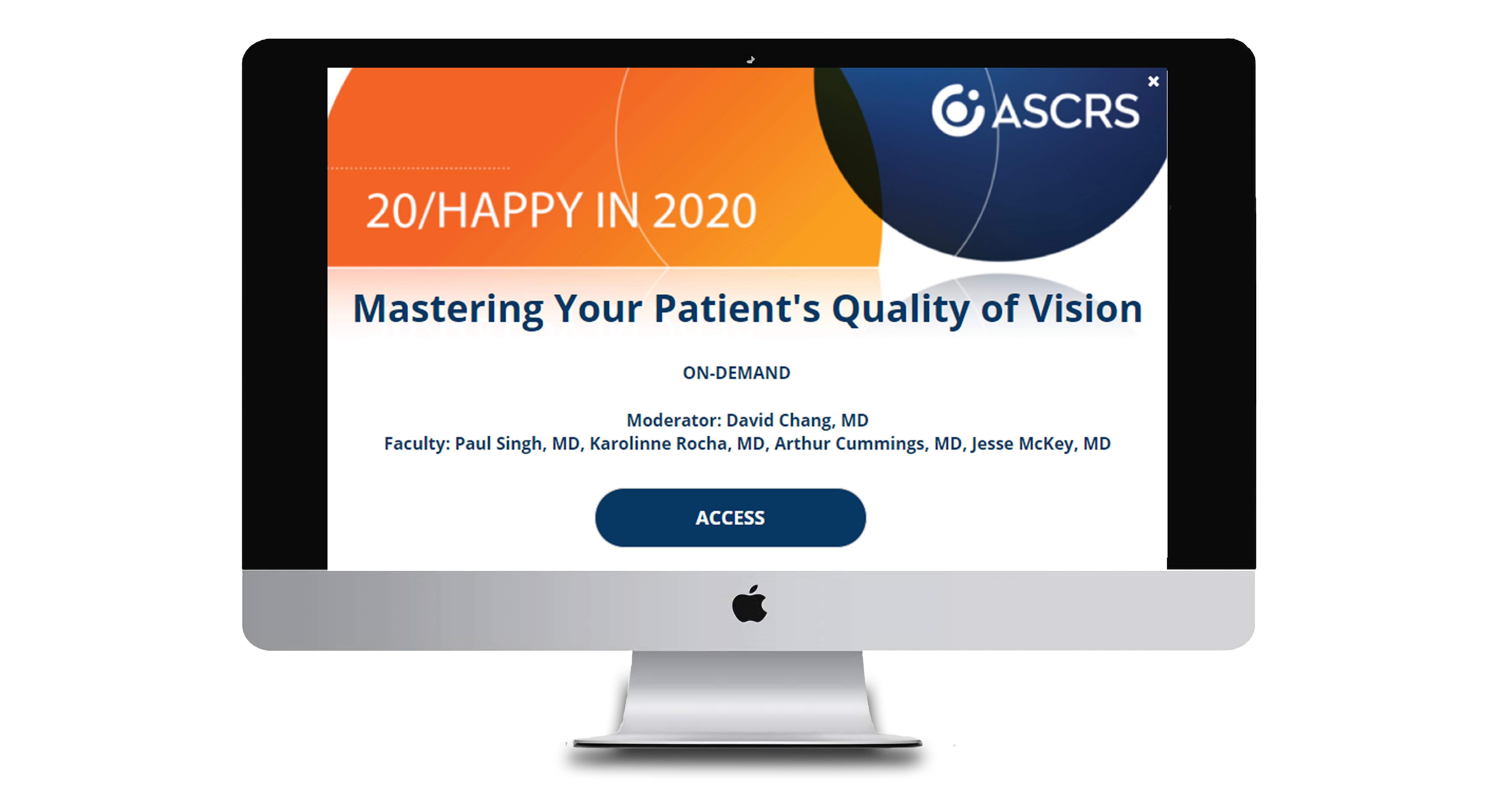 Mastering your Patients Quality of Vision webinar monitor